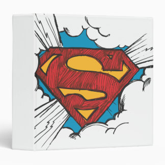 Superman S-Shield | Within Clouds Logo 3 Ring Binder