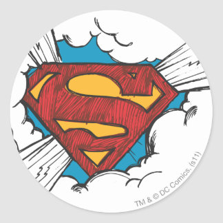 Superman S-Shield | Within Clouds Logo Classic Round Sticker