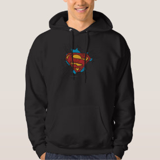 Superman S-Shield   Within Clouds Logo Hoodie