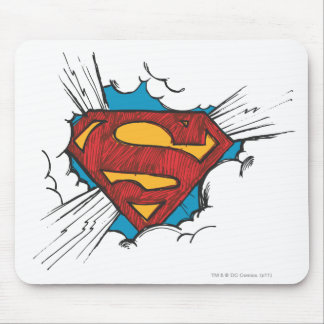 Superman S-Shield | Within Clouds Logo Mouse Pad
