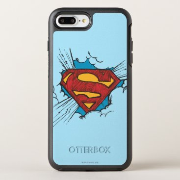 Superman S-Shield | Within Clouds Logo OtterBox Symmetry iPhone 8 Plus/7 Plus Case