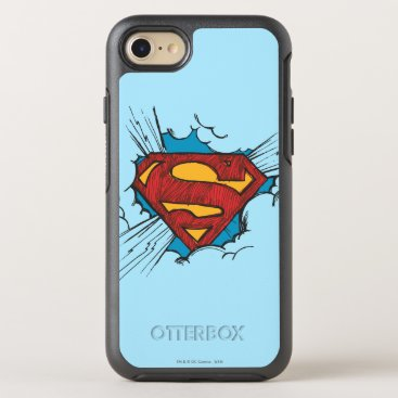 Superman S-Shield | Within Clouds Logo OtterBox Symmetry iPhone 8/7 Case