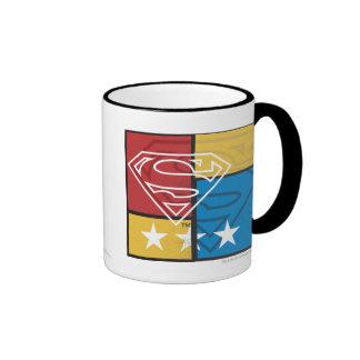 Superman Shield with Stars Ringer Mug
