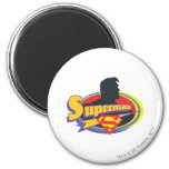 Superman Silhouette 2 Inch Round Magnet