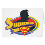 Superman Silhouette Greeting Card