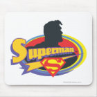 Superman Silhouette Mouse Pad