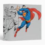 Superman Sketch Color Vinyl Binders