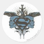 Superman Skulls - Blue Stickers