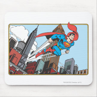 Superman & Skyscrapers Mouse Pad