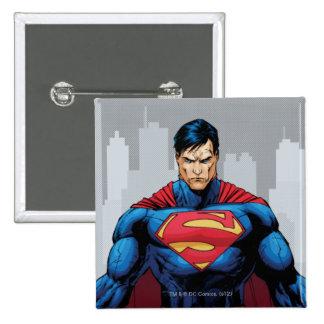Superman Standing 2 Inch Square Button