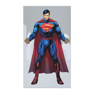 Superman Standing Canvas Print