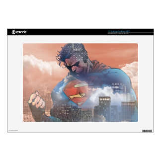 "Superman Standing Decal For 15"" Laptop"