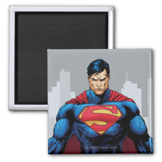 Superman Standing 2 Inch Square Magnet