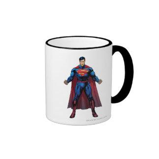 Superman Standing Ringer Coffee Mug