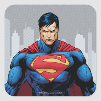 Superman Standing Square Sticker