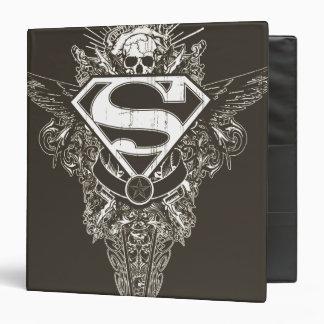 Superman,  Star and Skull Vinyl Binder