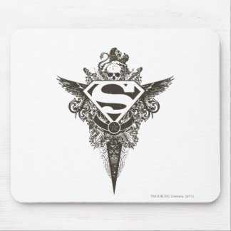 Superman Star and Skull White Mouse Pad