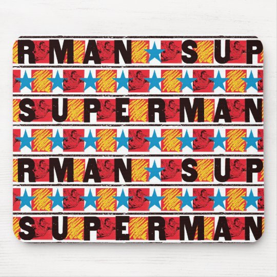 Superman & Star Pattern Mouse Pad