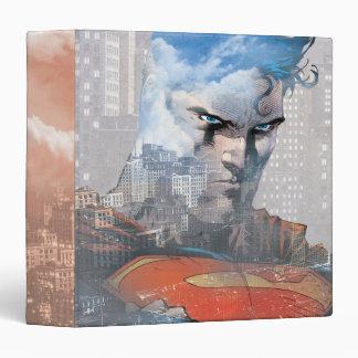 Superman Stare Vinyl Binder