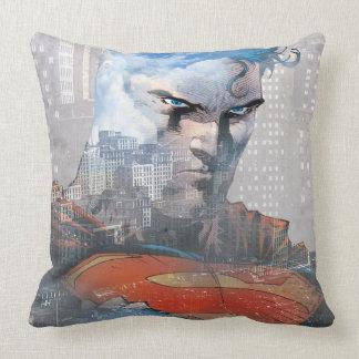 Superman Stare Throw Pillow