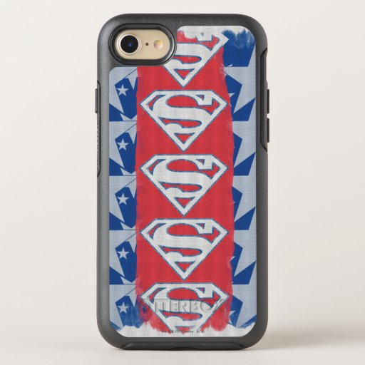 Superman Stars and Logo OtterBox Symmetry iPhone SE/8/7 Case