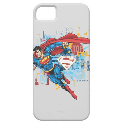 Superman - Stop Evil iPhone 5/5S Cases