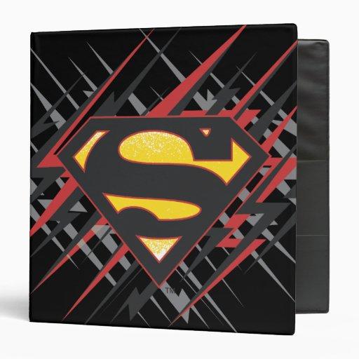 Superman Stylized | Black and Red Strikes Logo Binder