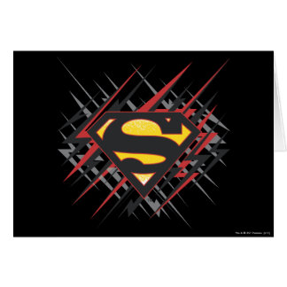 Superman Stylized | Black and Red Strikes Logo Card