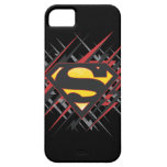 Superman Stylized | Black and Red Strikes Logo iPhone SE/5/5s Case