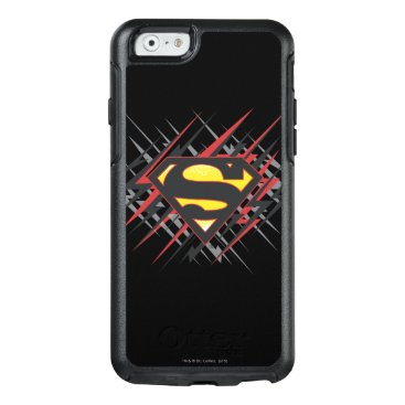 Superman Stylized   Black and Red Strikes Logo OtterBox iPhone 6/6s Case