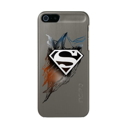 Superman Stylized | Blue Orange Logo Metallic Phone Case For iPhone SE/5/5s