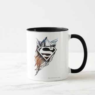 Superman Stylized | Blue Orange Logo Mug