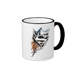Superman Stylized | Blue Orange Logo Ringer Mug