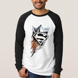 Superman Stylized   Blue OrangeLogo T-Shirt