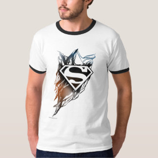 Superman Stylized | Blue OrangeLogo Tee Shirt