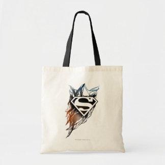 Superman Stylized   Blue OrangeLogo Tote Bag
