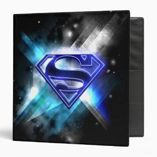 Superman Stylized   Blue White Crystal Logo Binder
