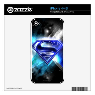 Superman Stylized | Blue White Crystal Logo iPhone 4S Decal