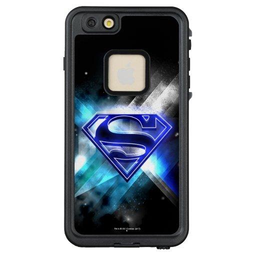 Superman Stylized   Blue White Crystal Logo LifeProof FRĒ iPhone 6/6s Plus Case