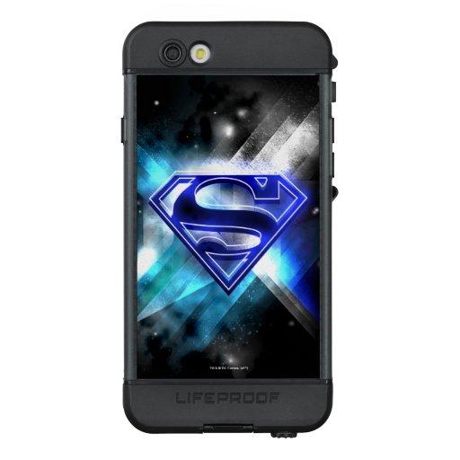 Superman Stylized   Blue White Crystal Logo LifeProof NÜÜD iPhone 6s Case