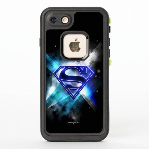 Superman Stylized   Blue White Crystal Logo