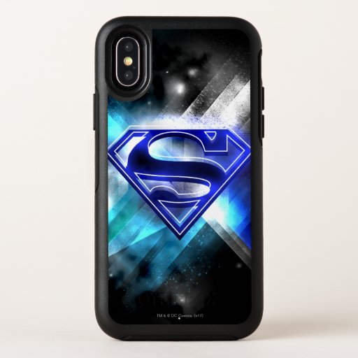 Superman Stylized | Blue White Crystal Logo OtterBox Symmetry iPhone X Case