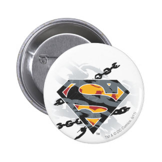 Superman Stylized | Chains Logo Pinback Button