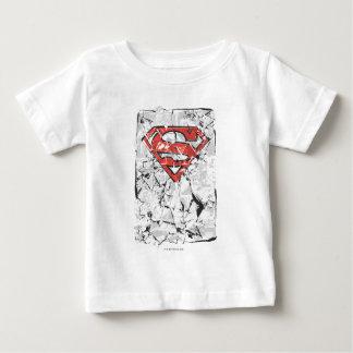 Superman Stylized   Crumpled Comic Logo Baby T-Shirt