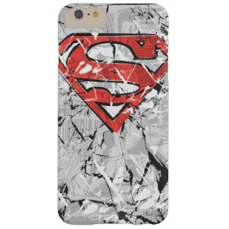 Superman Stylized | Crumpled Comic Logo Barely There iPhone 6 Plus Case