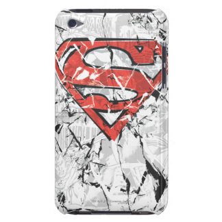 Superman Stylized | Crumpled Comic Logo Barely There iPod Case