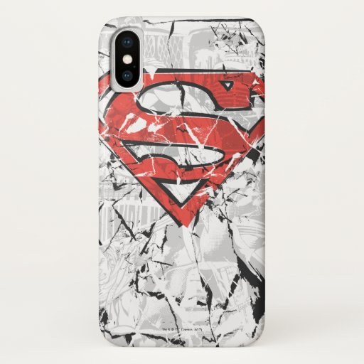 Superman Stylized | Crumpled Comic Logo iPhone X Case