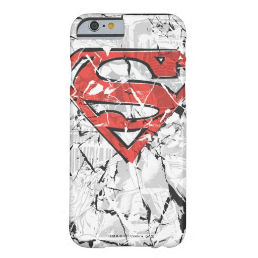 Superman Stylized | Crumpled Comic Logo Barely There iPhone 6 Case