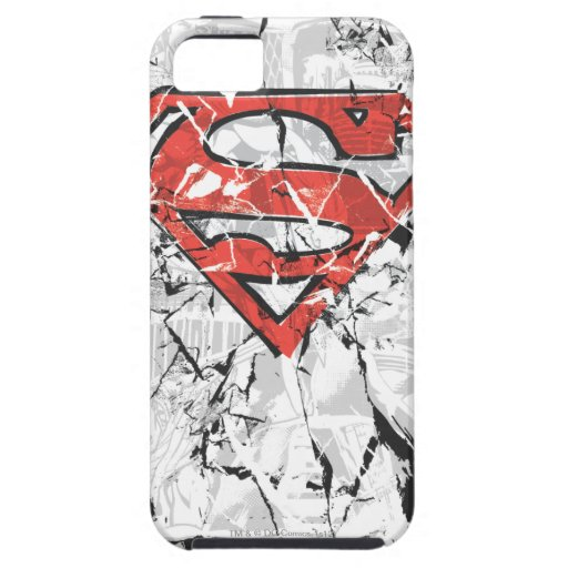 Superman Stylized | Crumpled Comic Logo iPhone SE/5/5s Case