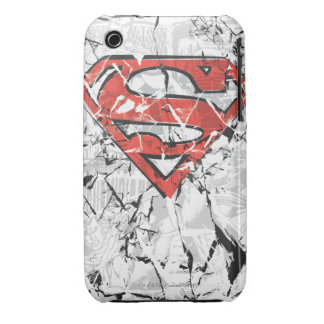 Superman Stylized | Crumpled Comic Logo iPhone 3 Cover